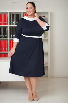 Платье 032401 ЛаТэ (Темно-синий)