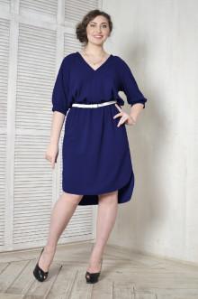 Платье-рубашка 099602 ЛаТэ (Темно-синий)