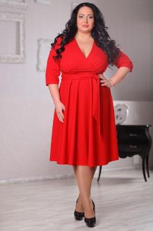 Платье 044202 ЛаТэ (Красный)