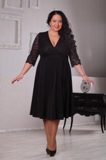 Платье 044001 ЛаТэ (Черный)