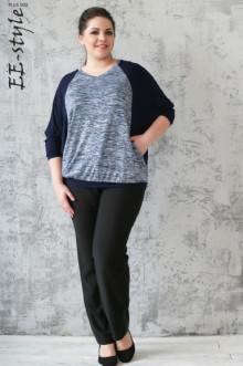 Пуловер ЕЁ-стиль (Синий)