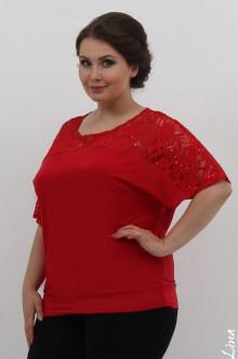 """Блуза """"Вояж 2"""" Лина (Красный)"""
