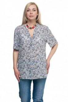 """Блуза """"Олси"""" 1610012/1 ОЛСИ (Серый/синий)"""
